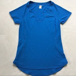 Lucy Workout Athletic V-Neck Top, Size S